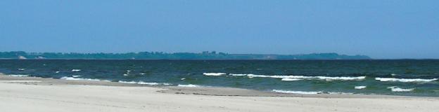 Ein Blick über den schönen Ostsee-Strand in Breege
