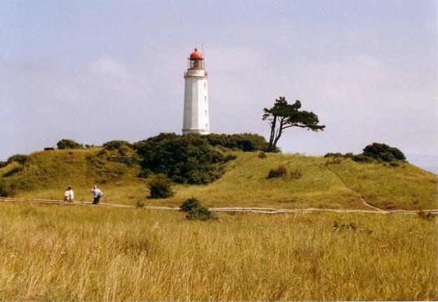Der Leuchtturm auf dem Dornbusch auf Hiddensee
