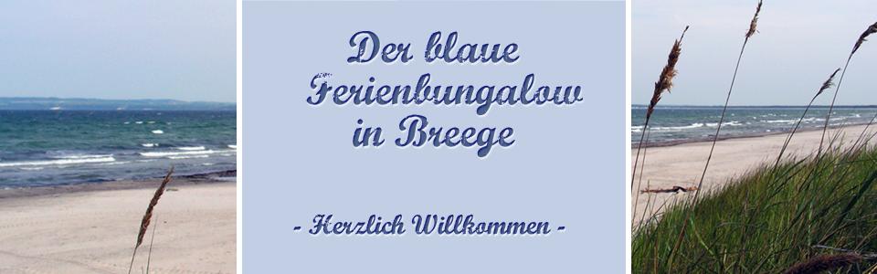 Blauer Ferienbungalow